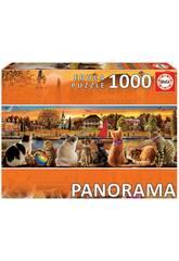 Puzzle 1.000 Chats Sur Le Quai Panorama Educa 18001