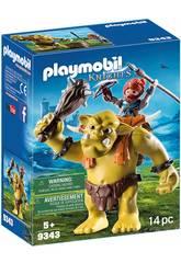 Playmobil Troll Géant avec Sac à dos et Nain 9343