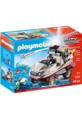 Playmobil Voiture amphibie avec Moteur Submersible 9364