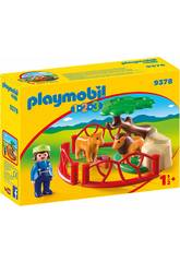 Playmobil 1,2,3 Recinto Leones 9378