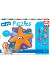 Baby Puzzle Animali Del Mare Educa 18058