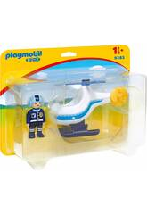 Playmobil 1,2,3 Hélicoptère de la Police 9383