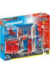 Playmobil Quartel de Bombeiros Com Som 9462