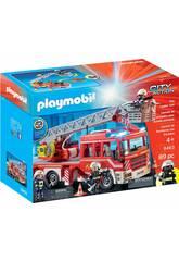 Playmobil Camion de Pompiers avec Échelle, Lumière et Son 9463