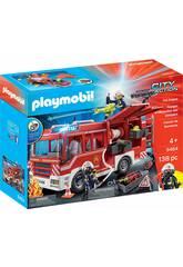 Playmobil Camion de Pompiers avec Lumière et Son 9464
