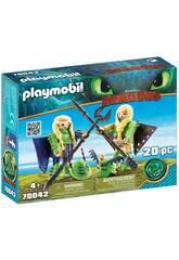 Playmobil Comme dresser a Votre Dragon Pète et Prout avec costume volant 70042