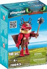 Playmobil Cómo Entrenar a Tu Dragón Patan Mocoso con Traje Volador 70043