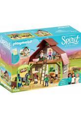 Playmobil Spirit Estábulo com Lucky, Pru e Abigail 70118