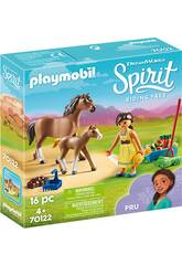 Playmobil Spirit Riding Free Pru con cavallo e puledro 70122