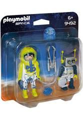 Playmobil Duo Pack Astronauta e Robot 9492