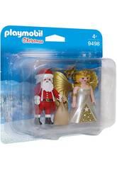 Playmobil Duo pack Papa Noël avec Ange 9498