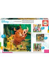 Puzzle Progresivos Disney Animals Educa 18104