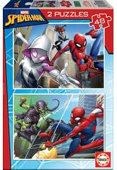 Puzzle 2X48 Spiderman Educa 18099