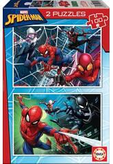 Puzzle 2x100 Spiderman Educa 18101