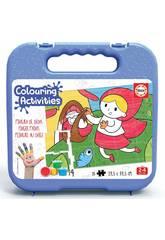 Mallette Colouring Activities Puzzle 20 le Petit Chaperon Rouge Educa 18210