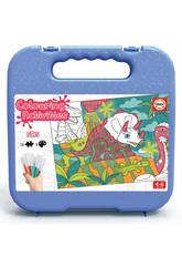 Colouring Activities Puzzle 50 Dinossauros Educa 18069