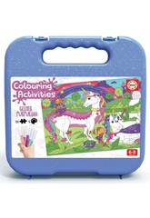 Maletinha Colouring Activities Puzzle 100 Unicórnio Educa 18066