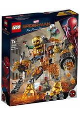 Lego Super Heroes Spiderman Far From Home Bataille Contre l'Homme de Métal 76128