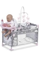 Berceau Parc table a langer pour poupées Sky Decuevas 53124