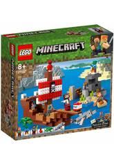 Lego Minecraft A Aventura do Barco Pirata 21152
