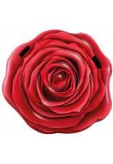 Flotador Hinchable Rosa Roja Realista 137x132 cm. Intex 58783