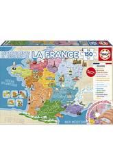 Puzzle 150 Départaments Et Régions De La France Educa 17238