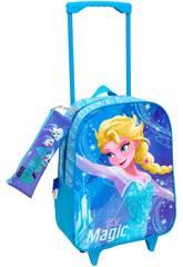 Mochila Trolley Frozen Com Portatodo Toybags T810-074