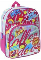 Mochila Soy Luna Plateada Brillante Toybags T323-034