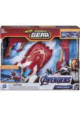 Avengers Nerf Assembler Gear Iron Man ziehe an und werfe Hasbro E3354
