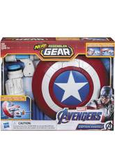Avengers Nerf Assembler Gear Captain América Montez et Lancez Hasbro E3347