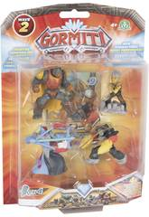 Gormiti Série 2 Blister 4 Figurines 5 cm. Giochi Preziosi GRM22000
