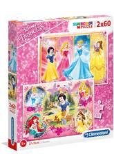 Puzzle 2x60 Princesses Disney Clementoni 7133