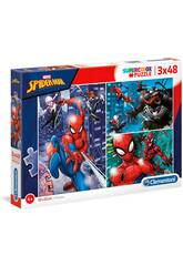 Puzzle 3x48 Spiderman Clementoni 25238