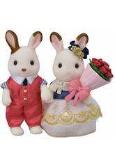 Sylvanian Families Town Set Novios Stella Chocolate y William Cinnamon Epoch Para Imaginar 5362
