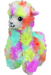 Peluche Lama Multicolore 20 cm. Lola TY 41217TY