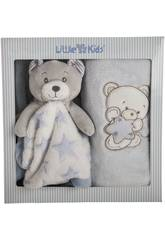 Kit Couverture Bleue Avec Dou Dou Petit Ours Llopis 25483