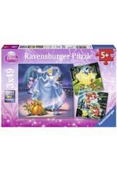 Puzzle Princesas Disney 3x49 Piezas Ravensburger 9339