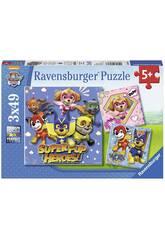 Puzzle Paw Patrol 3x49 Piezas Ravensburger 8036