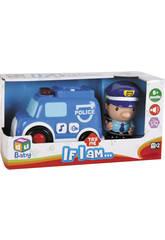 Voiture de Patrouille avec figurine de Policier