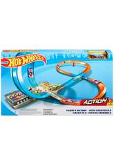 Hot Wheels Track Builder Pista Sotto Forma di 8 Mattel GGF92