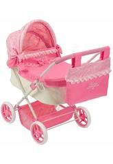 Chariot de poupée Doll Pram Reborn Saica 9968