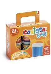Tempera von 100 gr mit 6 verschieden Farben von Carioca K0032