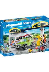 Playmobil Voitures Ville Station-service 70201