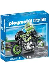 Playmobil Véhicules Ville Moto Playmovil 70204