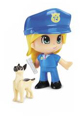 Pinypon Action Figure Emergenza Con Cane Famosa 700015151