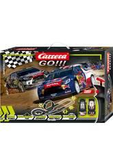 Circuito Super Rally 4,9 M. 2 Coches Citroën DS3 WRC Carrera 62495