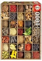 Puzzle von 1.000 Stücke Gewürze der Welt Educa 15524