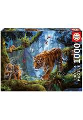 Puzzle 1.000 Tigres sur l'Arbre Educa 17662