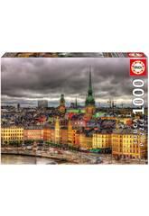 Puzzle 1.000 Vues de Stockholm Educa 17664