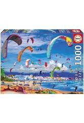 Puzzle 1.000 Kitesurfing Educa 17693